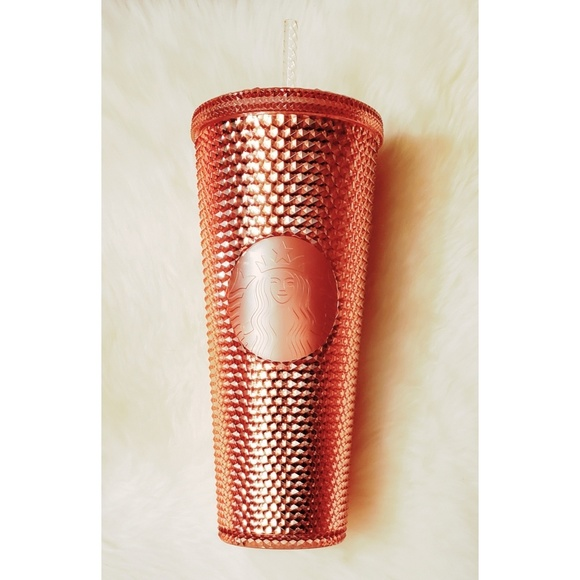 Starbucks Rose Gold Studded Tumbler Cold Cup 24oz Venti 2019 NEW!
